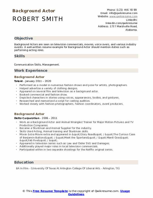 background actor resume samples qwikresume skills for acting pdf useful certifications Resume Skills For Acting Resume