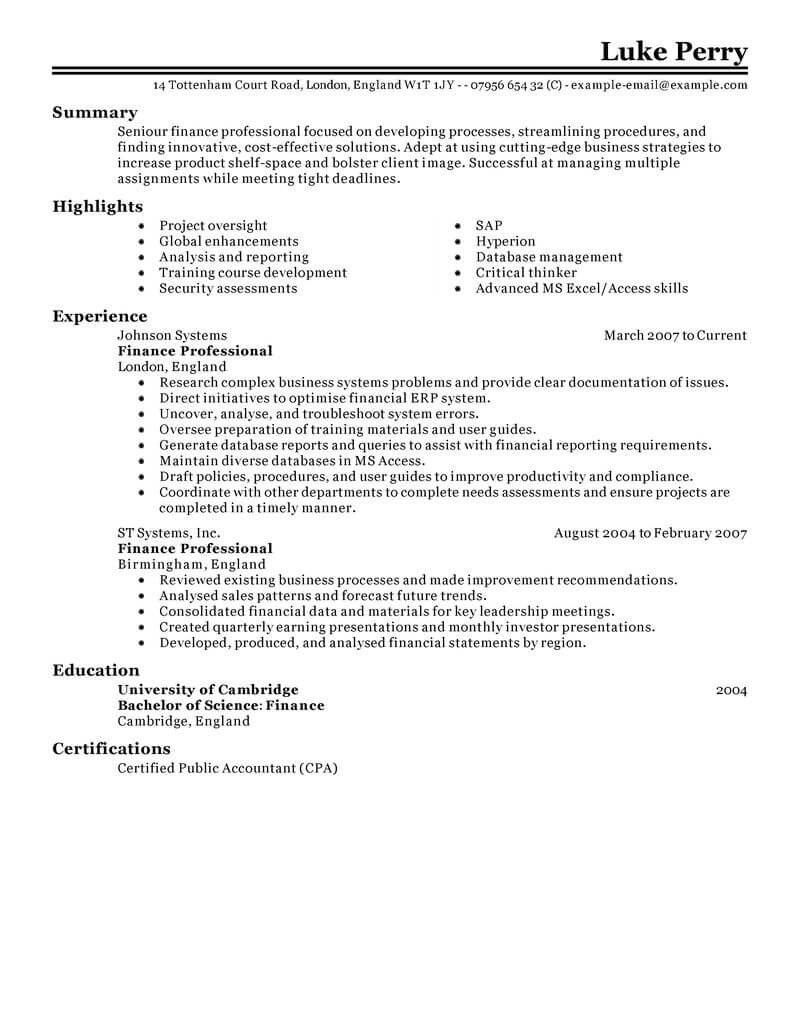 banking and financial services resume template for microsoft word livecareer summary Resume Financial Services Resume Summary