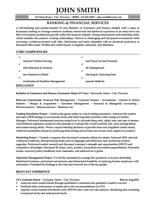 banking and financial services resume template premium samples example does glassdoor Resume Financial Services Resume