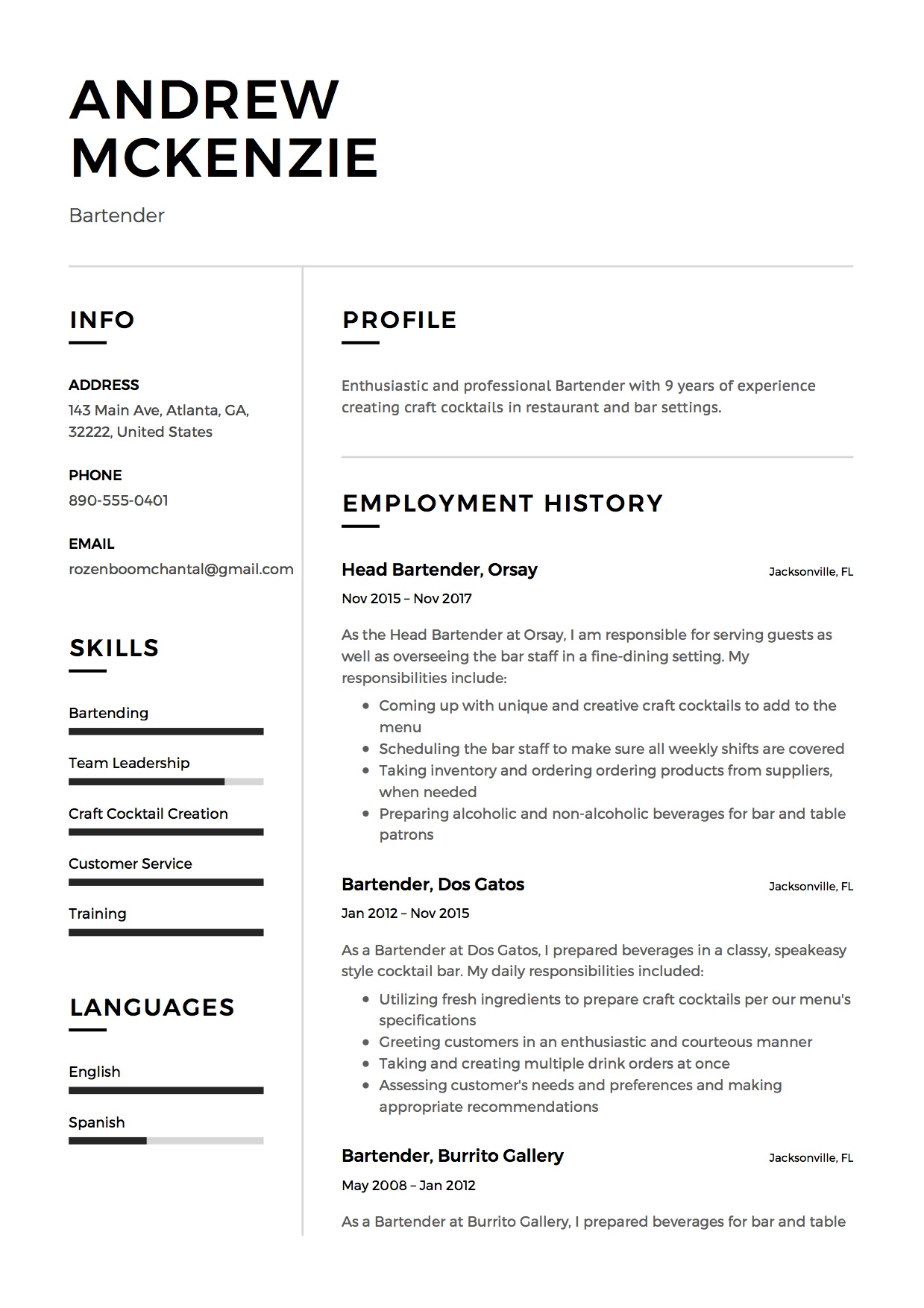 bartender resume guide example downloads pdf word job duties sample cover photo rural Resume Bartender Job Duties Resume