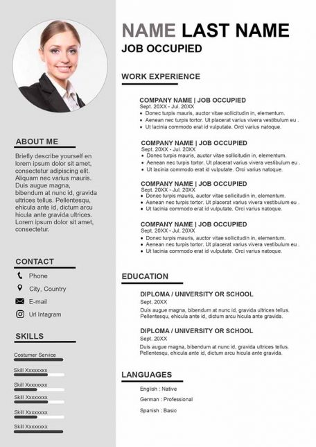 basic resume template to for free in word format european sample curriculum vitae finance Resume European Resume Format Sample