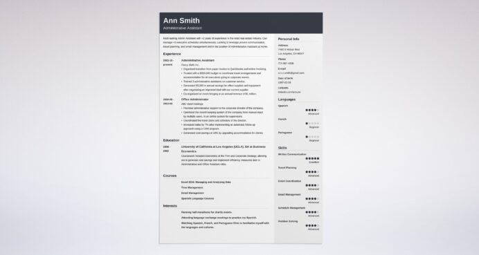 best administrative assistant resume examples title example for healthcare management Resume Administrative Assistant Resume Title