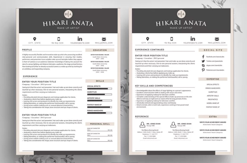 best contemporary resume cv templates new modern styles for headshot and sample fin Resume Headshot And Resume Sample