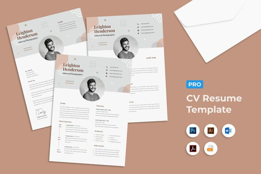best contemporary resume cv templates new modern styles for the step background template Resume The 24 Step Modern Resume