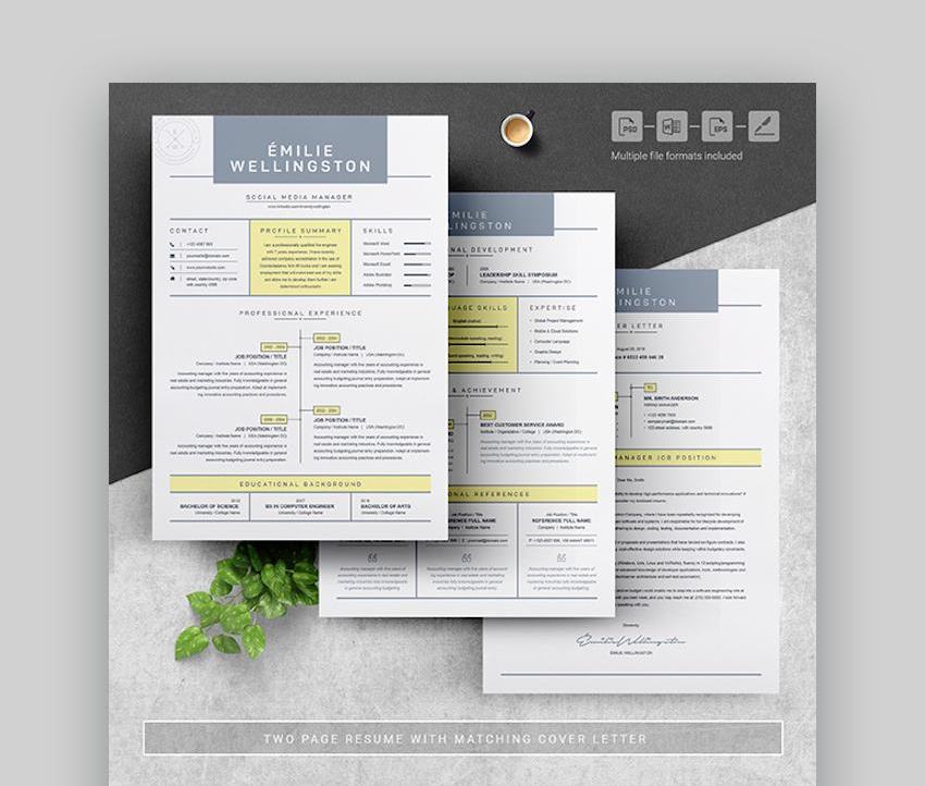 best contemporary resume cv templates new modern styles for the step creative Resume The 24 Step Modern Resume