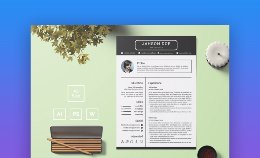 best contemporary resume cv templates new modern styles for the step elements1 dos and Resume The 24 Step Modern Resume