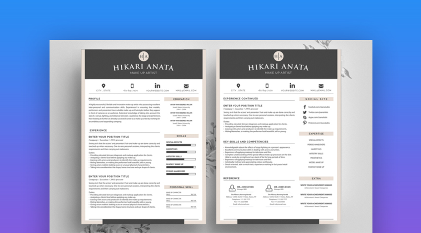 best contemporary resume cv templates new modern styles for the step elements2 server Resume The 24 Step Modern Resume