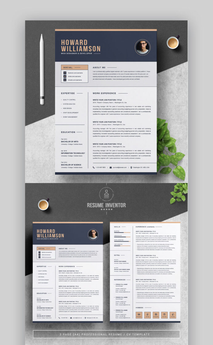 best contemporary resume cv templates new modern styles for the step gr10 security Resume The 24 Step Modern Resume