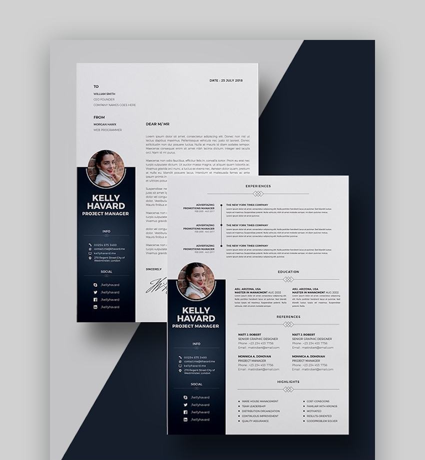 best contemporary resume cv templates new modern styles for the step graphicriver high Resume The 24 Step Modern Resume