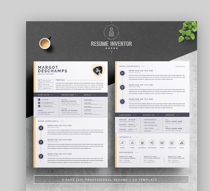 best contemporary resume cv templates new modern styles for the step graphicriver Resume The 24 Step Modern Resume
