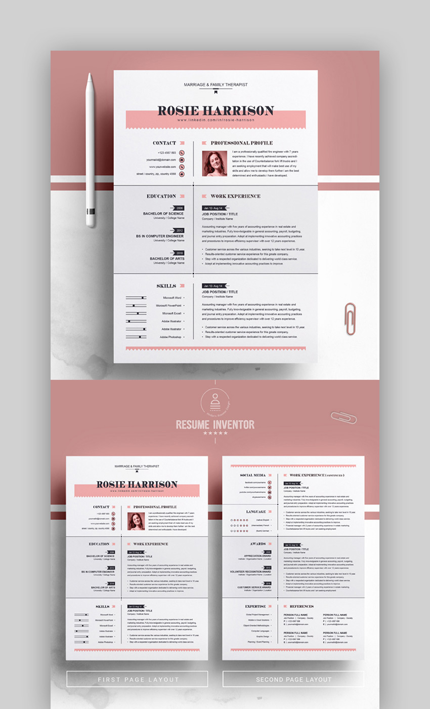 best contemporary resume cv templates new modern styles for the step proposal writer Resume The 24 Step Modern Resume