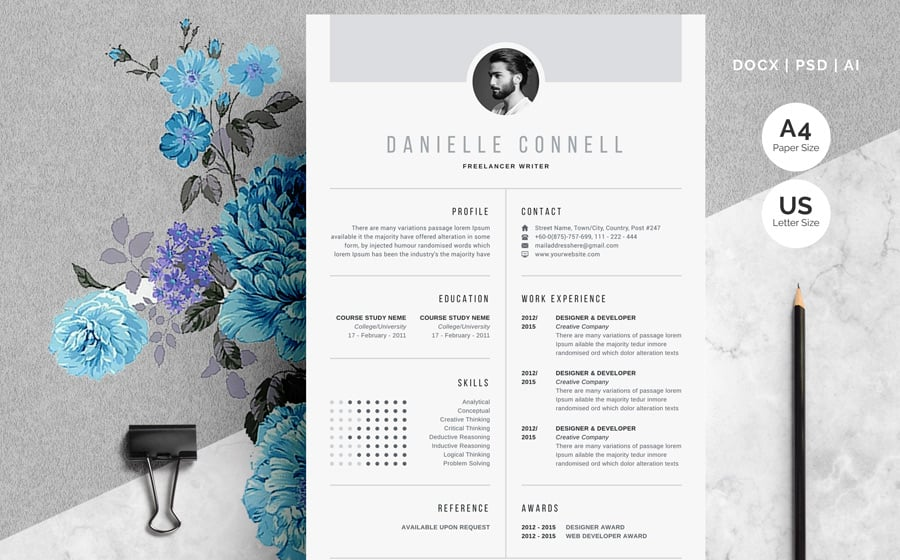 best creative resume cv templates printable nerd contact number danielle connell template Resume Resume Nerd Contact Number