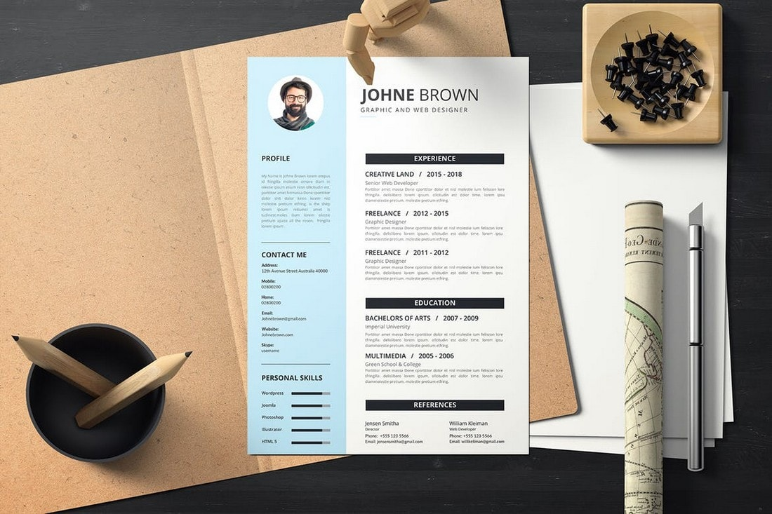 best cv resume templates design shack creative examples simple modern template for fmcg Resume Creative Resume Examples 2021