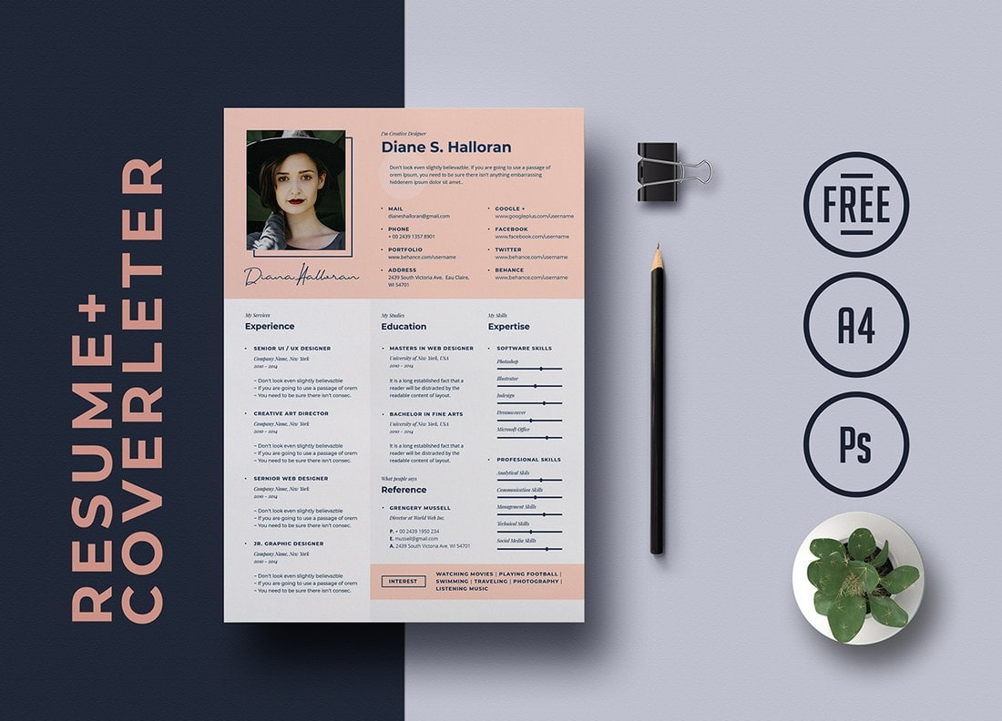 best cv resume templates design shack free word creative template text format for urban Resume Free 2021 Resume Templates Word