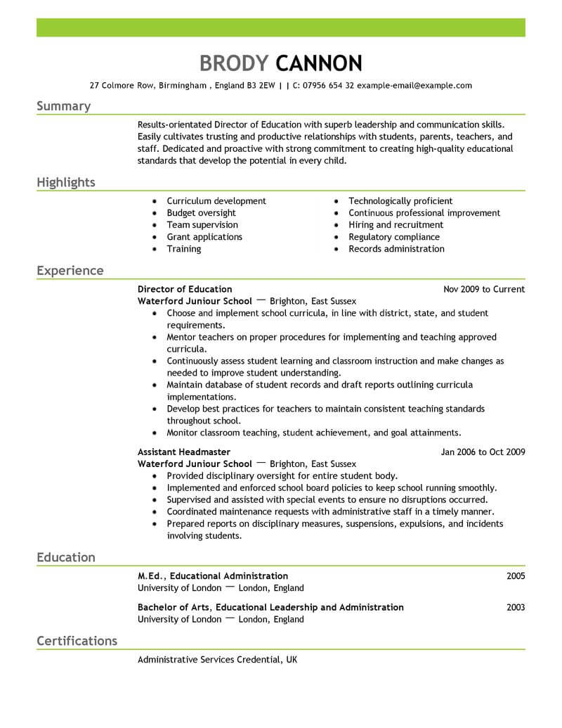 best director resume example livecareer for position education emphasis moderno national Resume Resume For Director Position