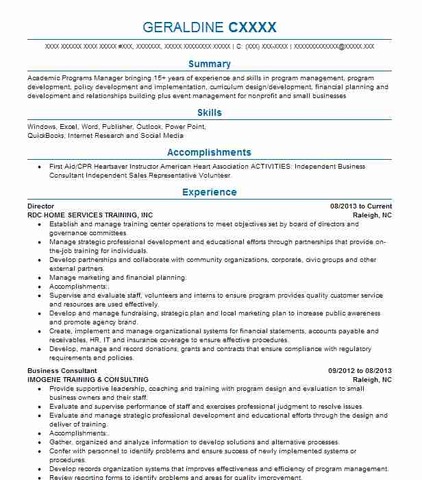best director resume example livecareer for position healthcare operations high schooler Resume Resume For Director Position