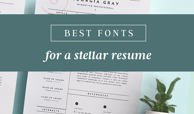 best fonts for resumes that truly stand out creative market blog resume free pic visa Resume Resume Fonts Free Download
