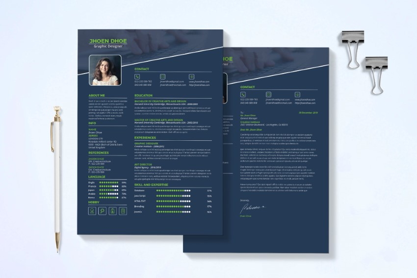 best free modern resume templates clean cv design formats fonts feature and header Resume Resume Fonts Free Download