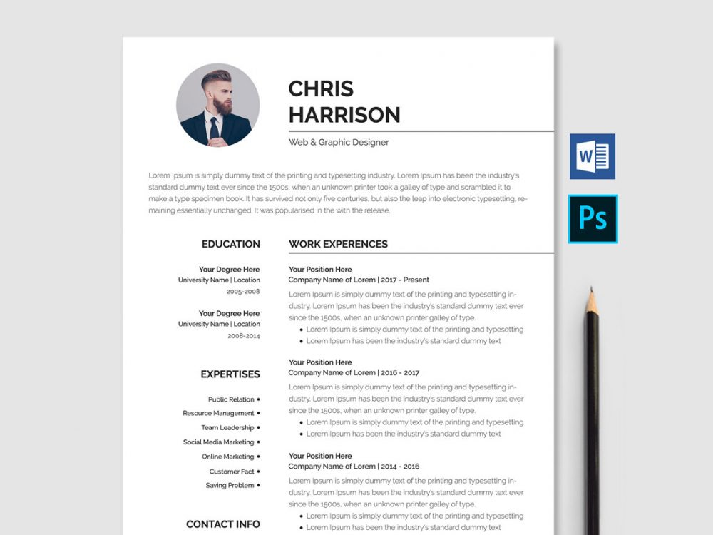 best free ms word resume templates webthemez microsoft professional template 1000x750 Resume Free Microsoft Word Resume Templates