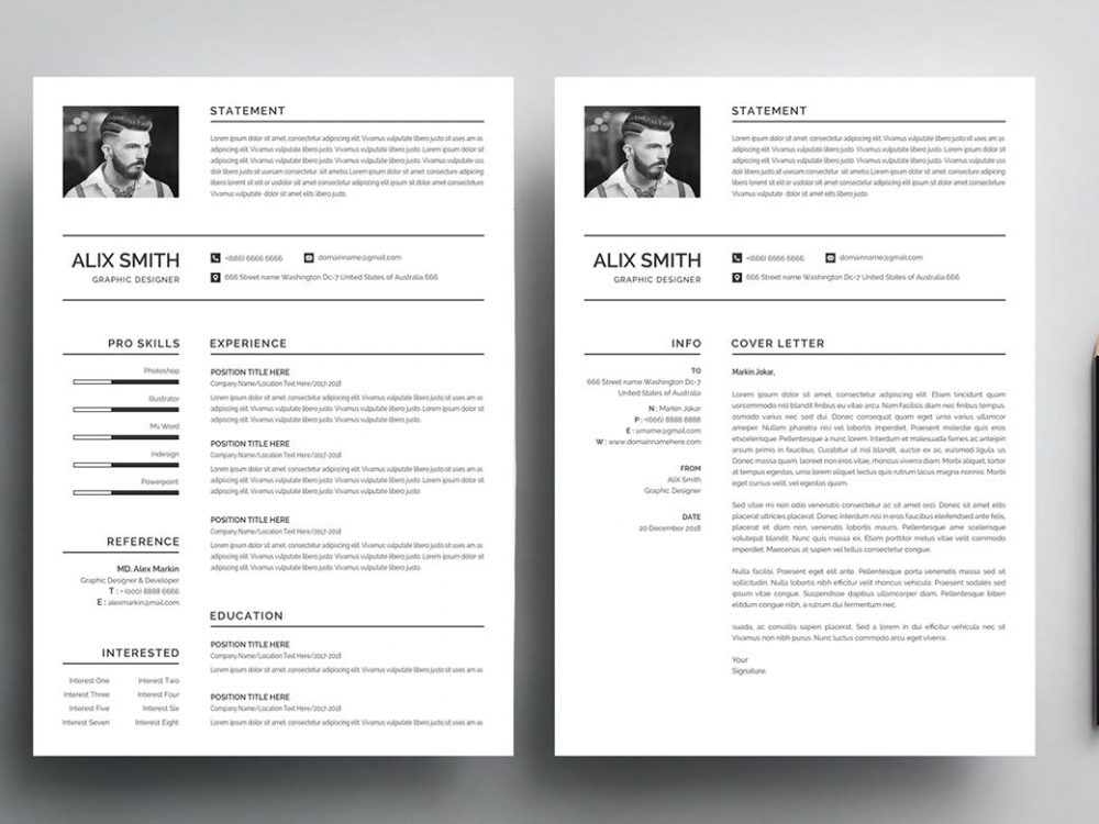 best free ms word resume templates webthemez template simple 1000x750 general contractor Resume Free Resume Template Download 2020