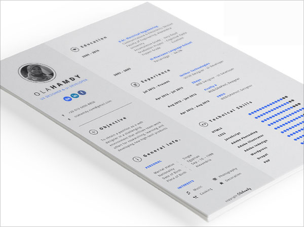 best free resume cv templates in indesign formats interactive samples clean marketing Resume Interactive Resume Samples