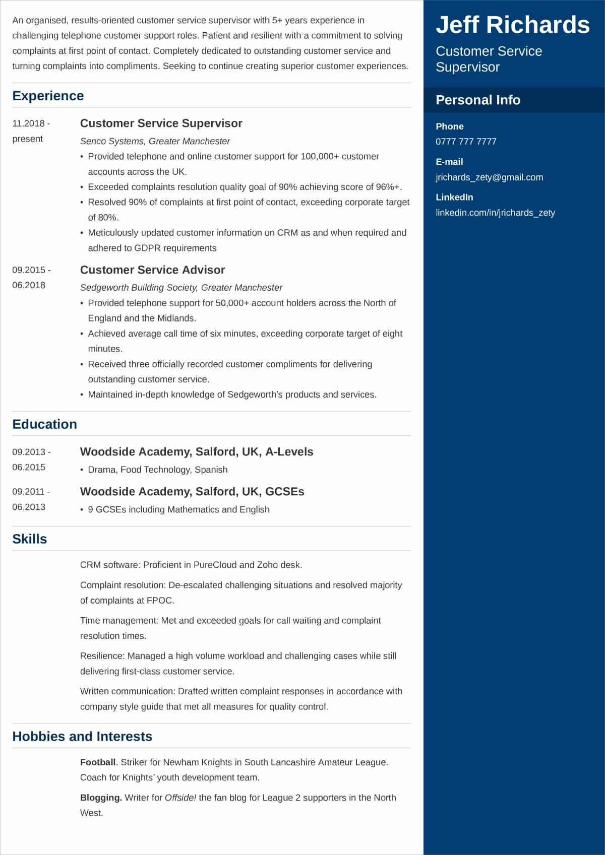 best hobbies and interests to put on cv examples for resume cleaning description Resume Hobbies And Interests Resume