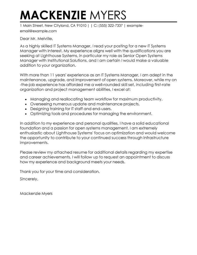 best it cover letter examples livecareer information technology resume contemporary Resume Information Technology Resume Cover Letter