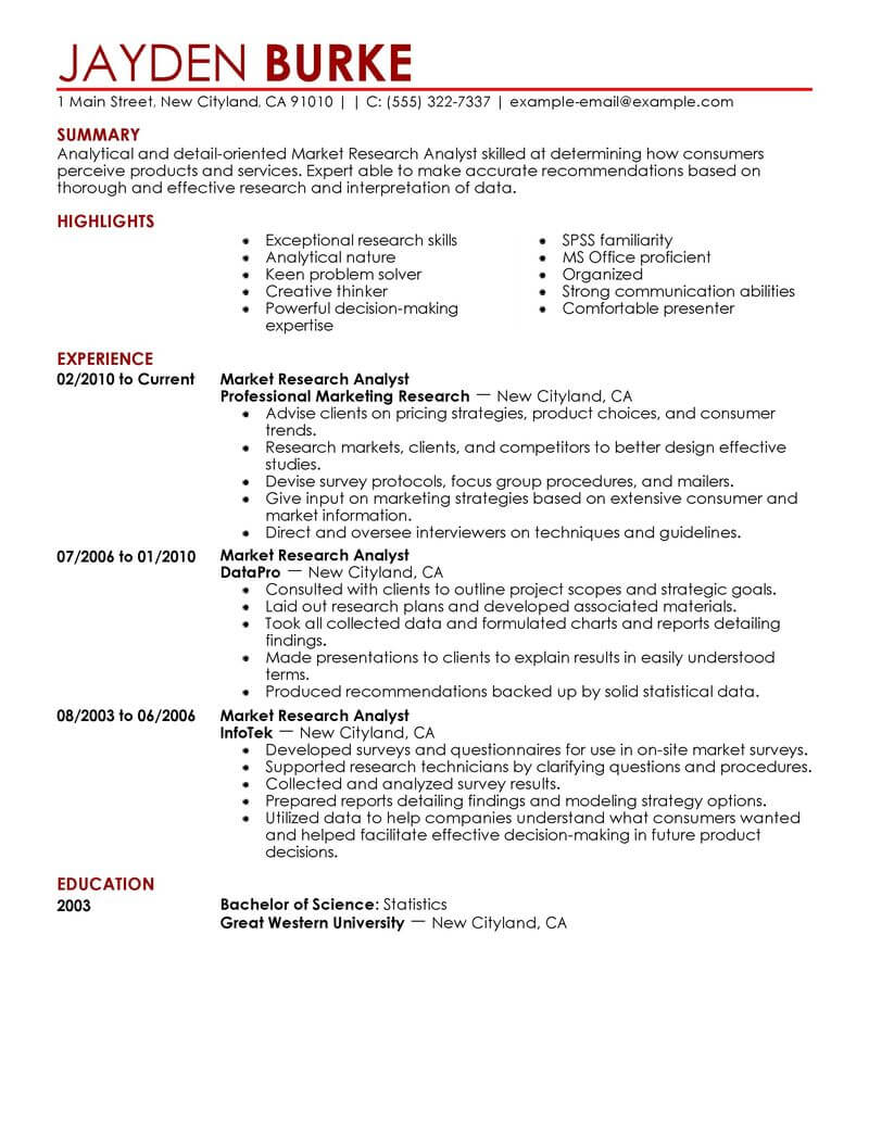 best market researcher resume example livecareer scientist examples marketing Resume Scientist Resume Examples