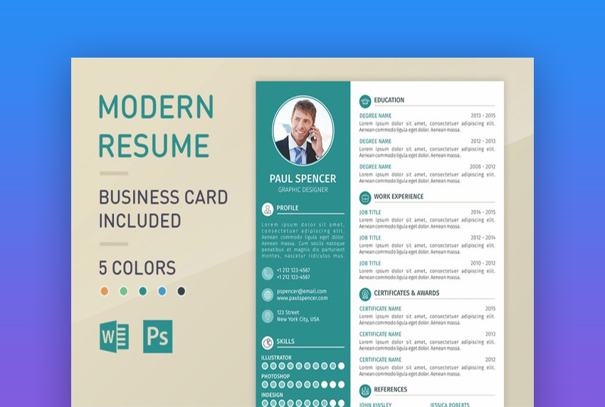 best one resume templates simple to use format examples single word template modernresume Resume Single Page Resume Word Template