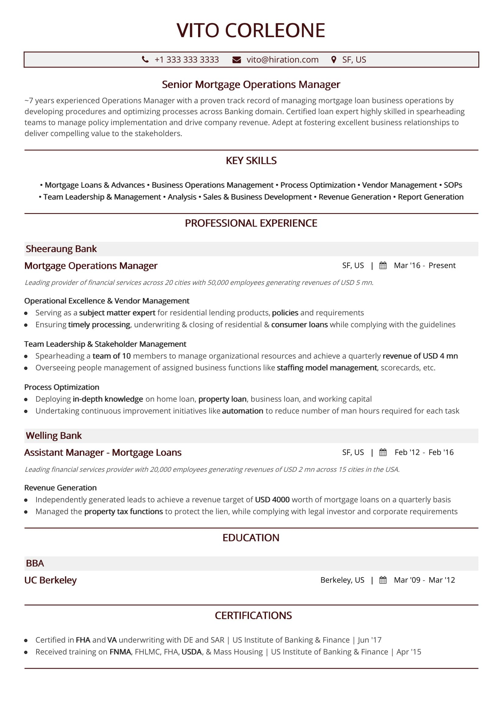 best operations resume top resumes in with samples manager summary vito corleone medical Resume Operations Manager Summary Resume