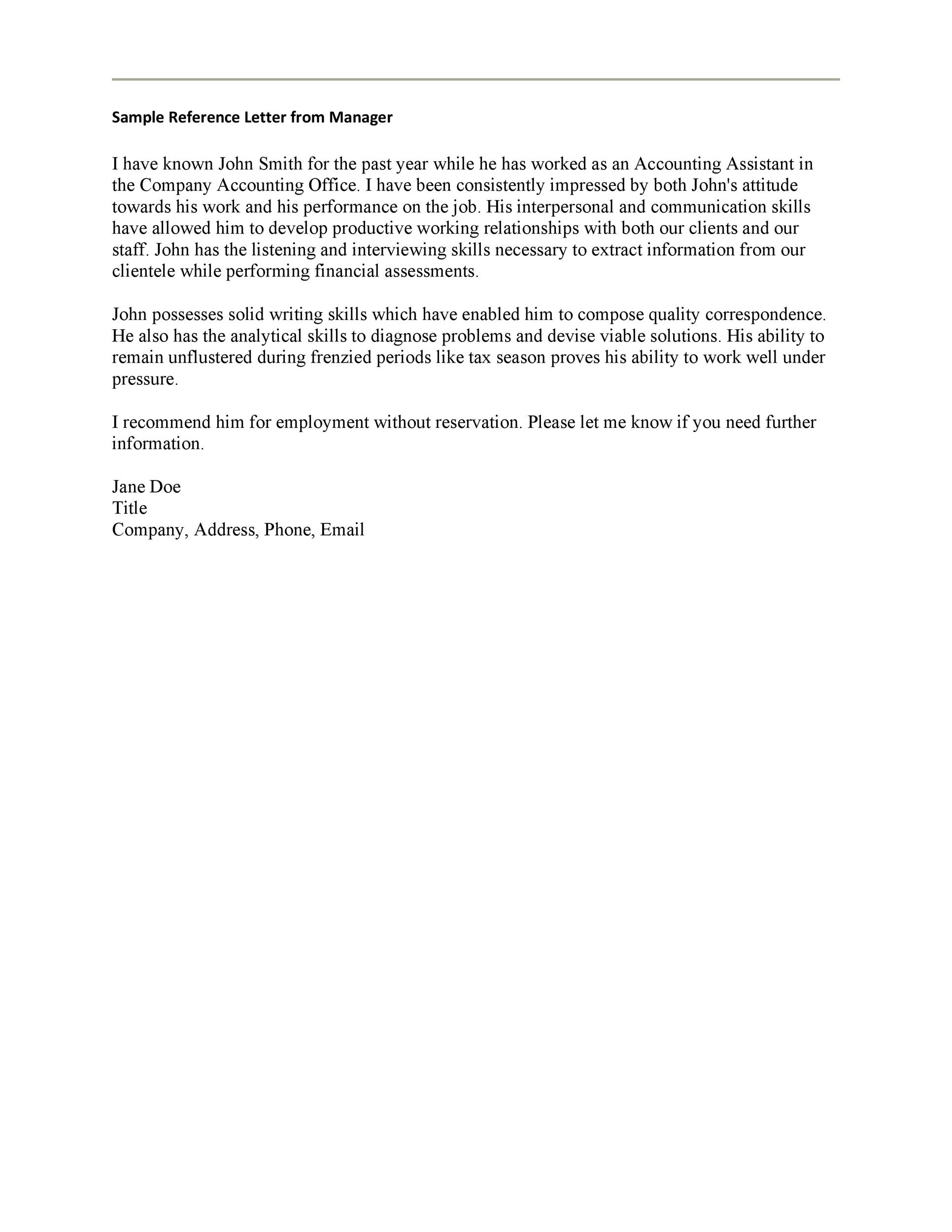 best recommendation letters for employee from manager resume template letter loss Resume Resume Template For Recommendation Letter