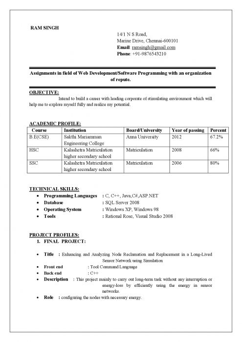 best resume format examples job for computer engineer construction summary star style Resume Resume Format For Computer Engineer