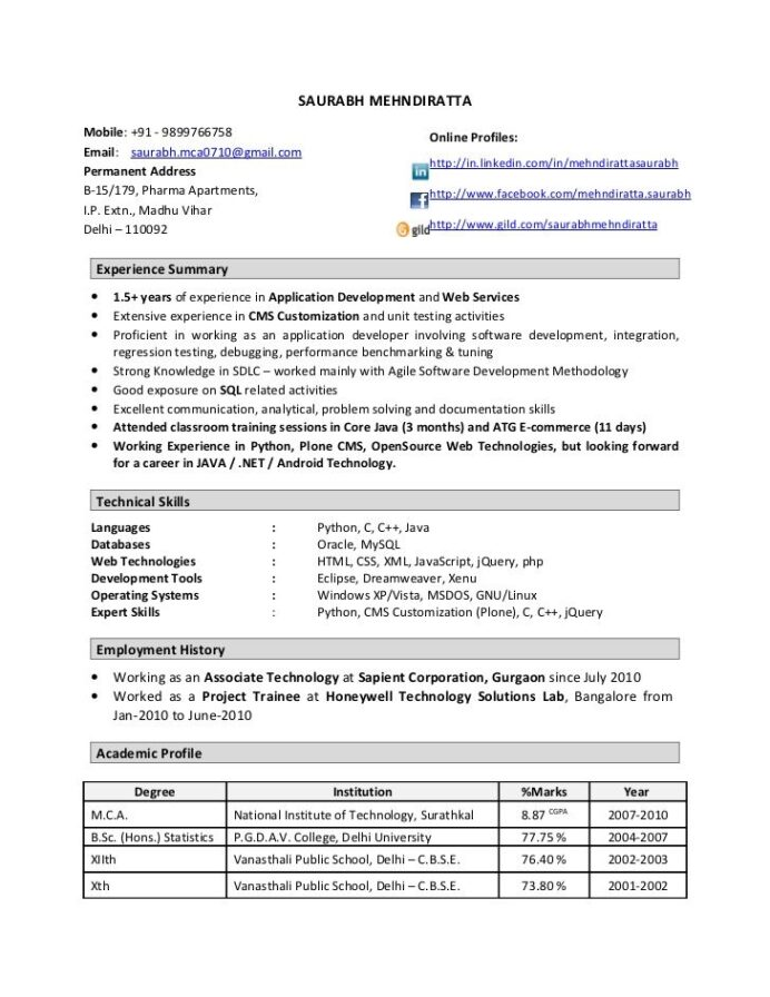 best resume format for year experienced examples one work experience free quick and easy Resume One Year Work Experience Resume