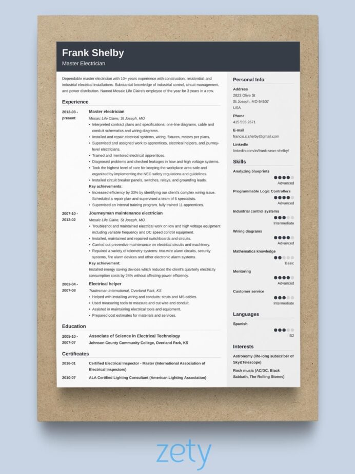 best resume format professional samples chronological template signal integrity wording Resume Chronological Resume Template 2021