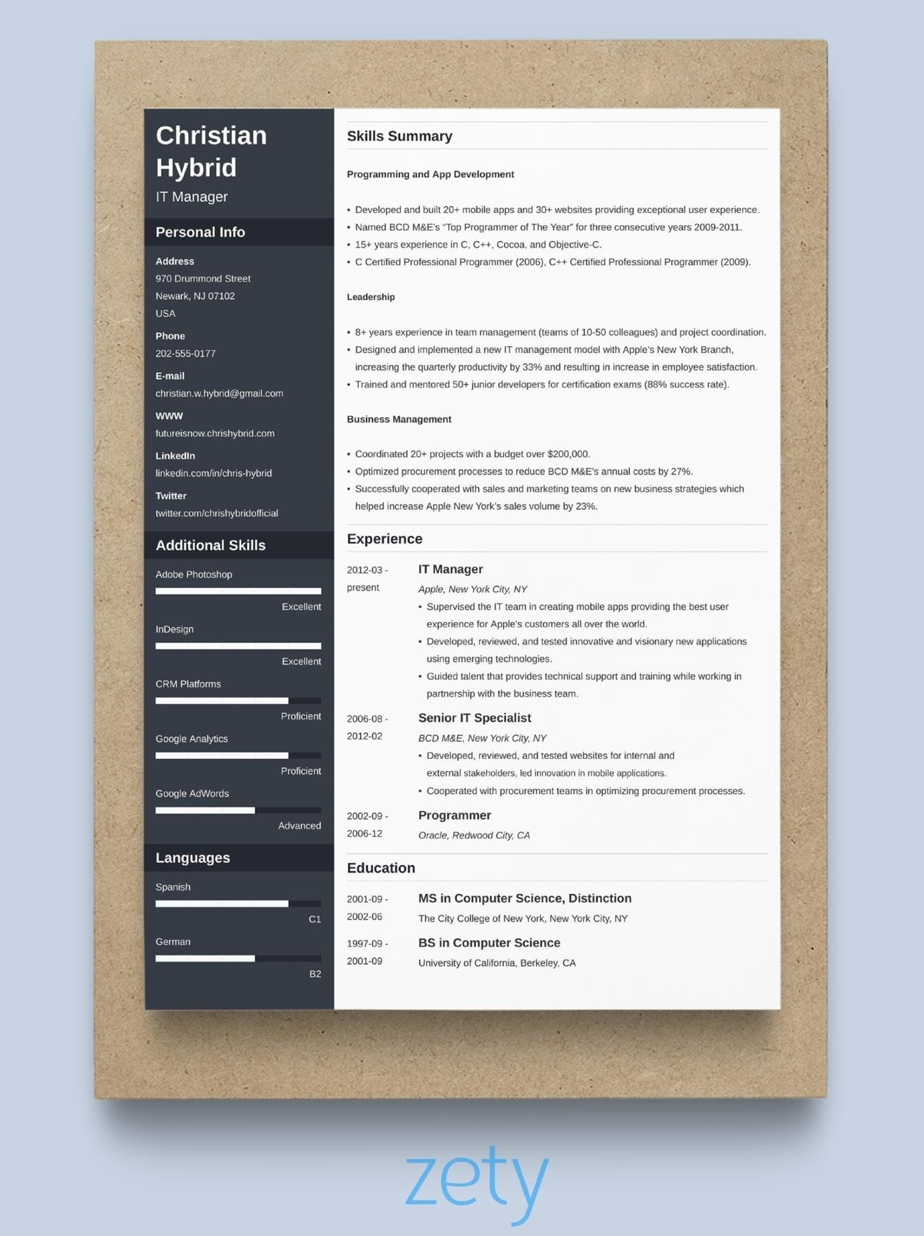 best resume format professional samples with years experience filling out skills Resume Resume With 2 Years Experience