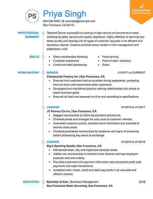 best resume formats of livecareer business examples chronological tumb one year work Resume Business Resume Examples 2019