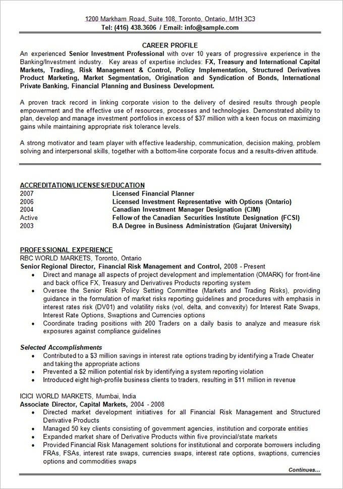 best resume formats pdf free premium templates with years experience banking investment Resume Resume With 2 Years Experience