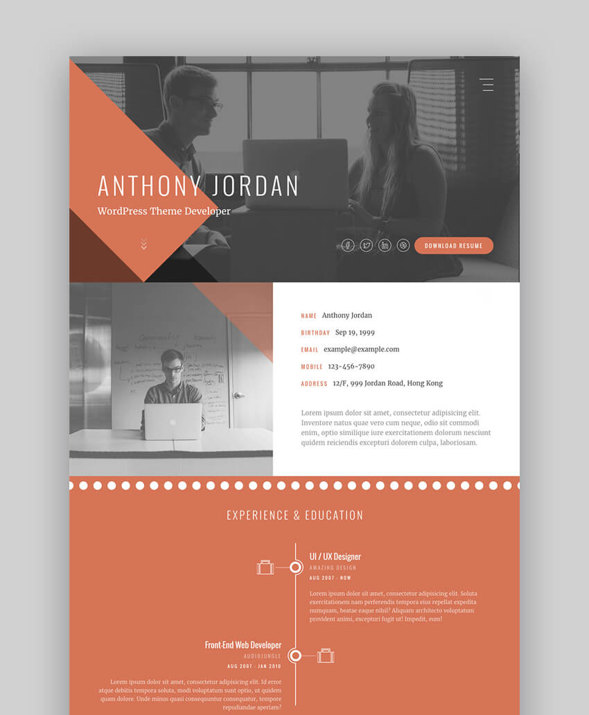 best resume templates to make personal profile cv websites interactive samples entry Resume Interactive Resume Samples