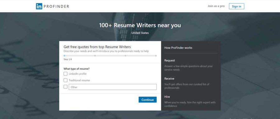 best resume writing services us all industries professional writers linkedin profinder Resume Professional Resume Writers Linkedin