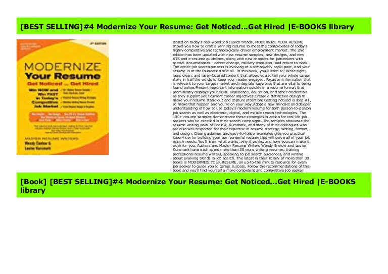 best selling modernize your resume get noticed hired bo noticedget thumbnail the music Resume Modernize Your Resume Get Noticed Get Hired