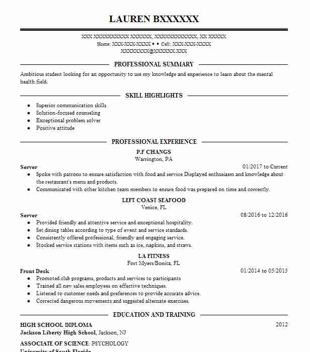 best server resume example livecareer positive skills for randstad submit current styles Resume Positive Skills For A Resume