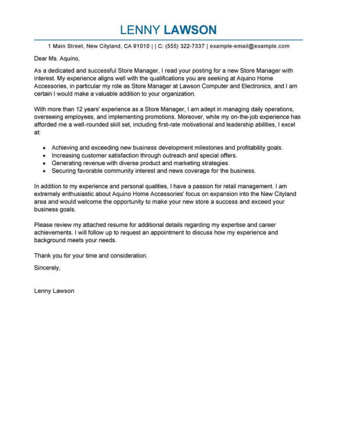 best store manager cover letter examples livecareer resume and books management Resume Best Resume And Cover Letter Books