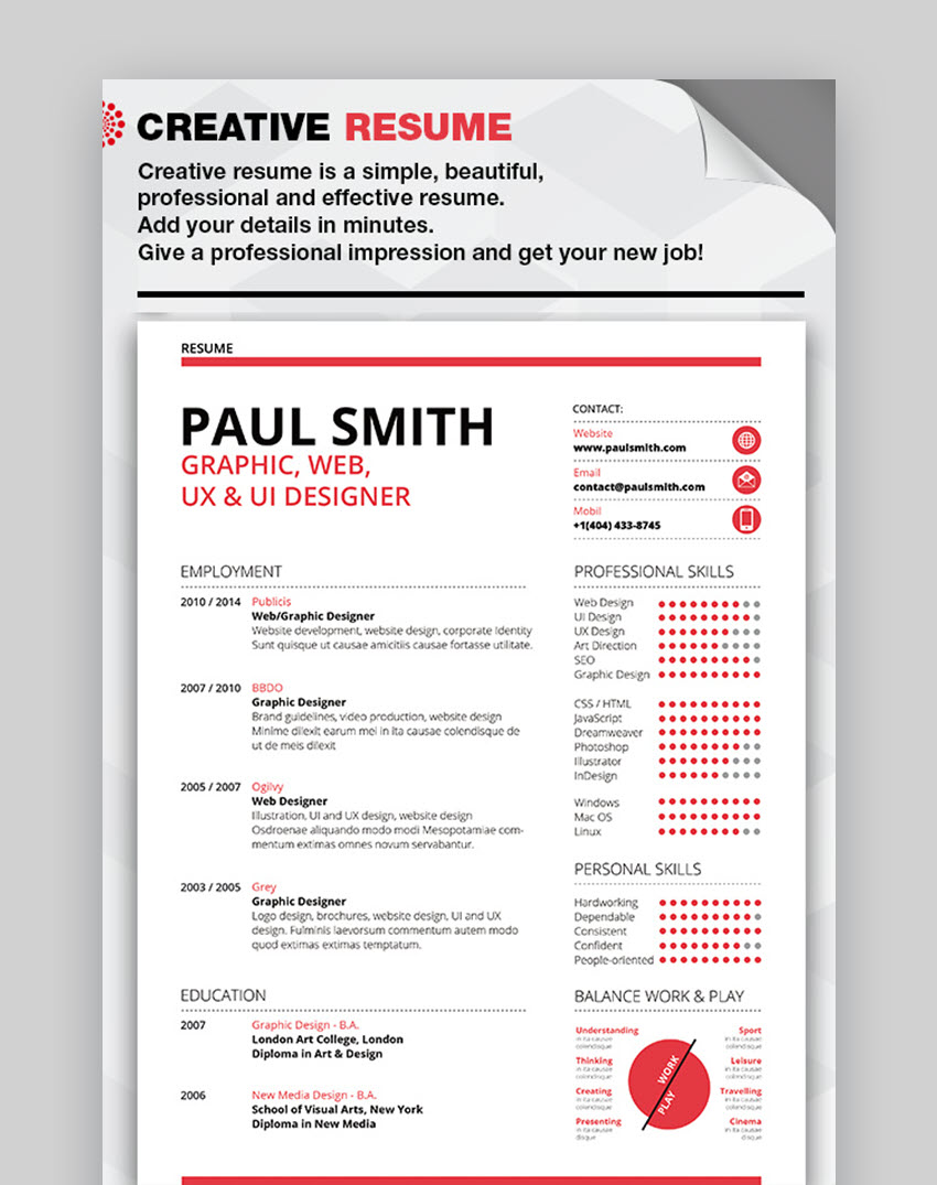 best visual cv resume templates for artists creatives in game template search engine free Resume Video Game Resume Template