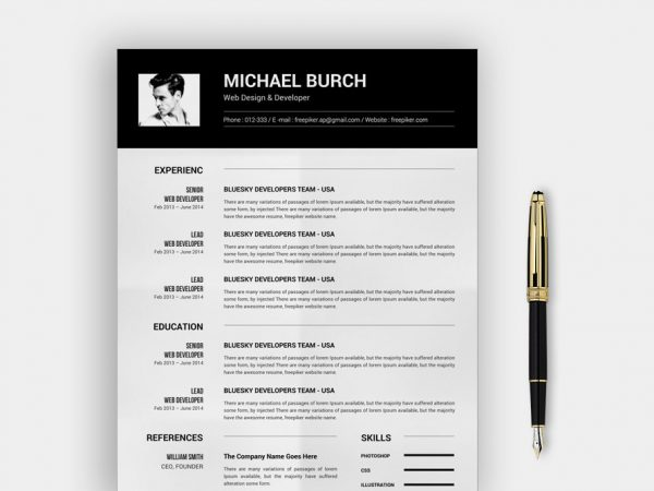 best word resume template free of resumekraft ceo simple 600x450 construction manager Resume Ceo Resume Template Word Free