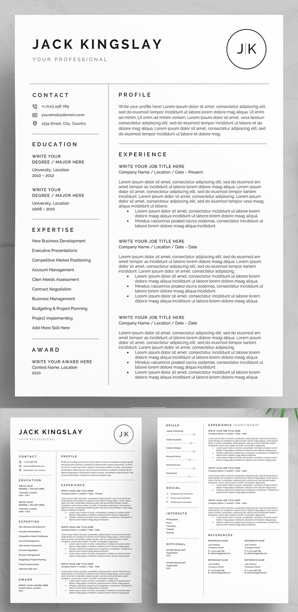 resume template word sample best templates scaled chief financial officer splunk admin Resume Best Resume Templates Word