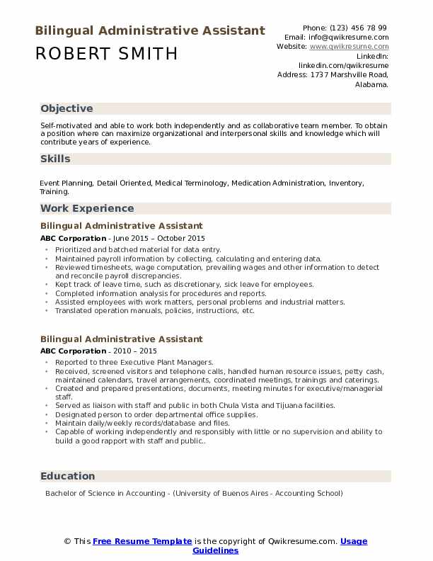 bilingual administrative assistant resume samples qwikresume immigration services sample Resume Immigration Services Assistant Sample Resume