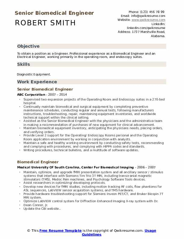 biomedical engineer resume samples qwikresume fresher pdf industrial designer cover email Resume Biomedical Engineer Fresher Resume