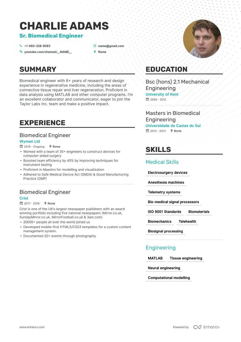 biomedical engineer resume step ultimate guide for enhancv fresher lawyer examples Resume Biomedical Engineer Fresher Resume