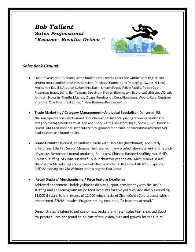 bob tallent personal value proposition resume opening statement on lmsw basketball player Resume Value Proposition Resume