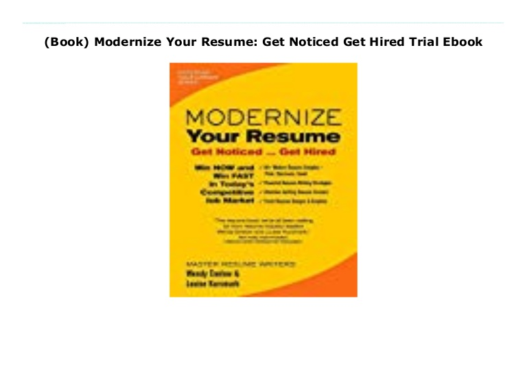 book modernize your resume get noticed hired trial ebook thumbnail mac makeup template Resume Modernize Your Resume Get Noticed Get Hired